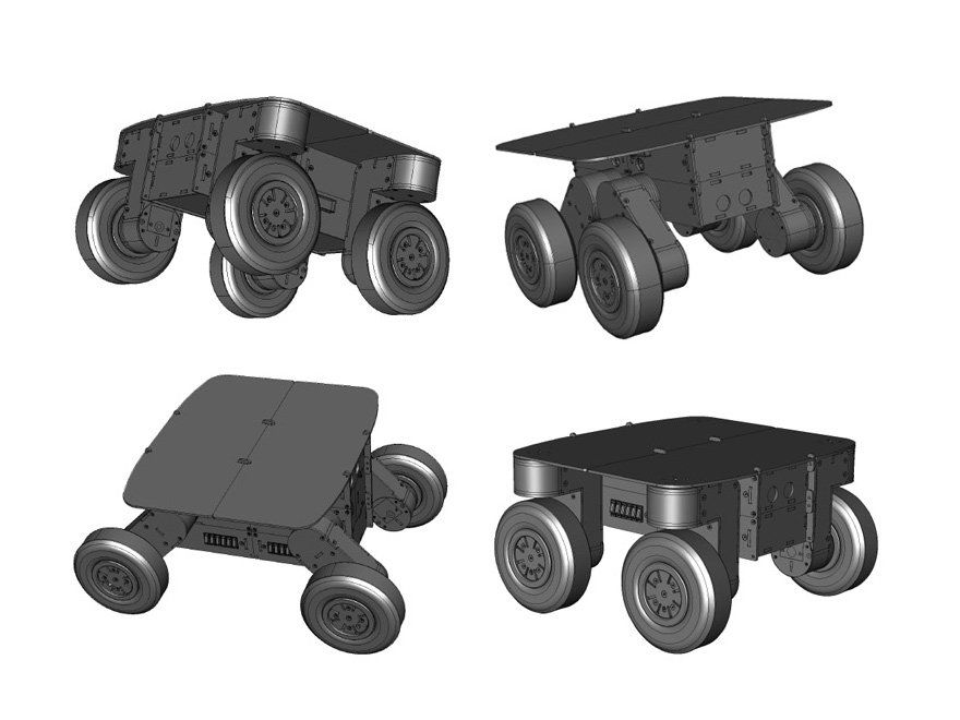 two and three axes combination mobirob mobile robot